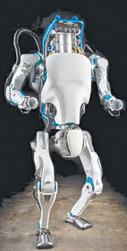 Fig. 12: Atlas humanoid robot (Credit: https://en.wikipedia.org)