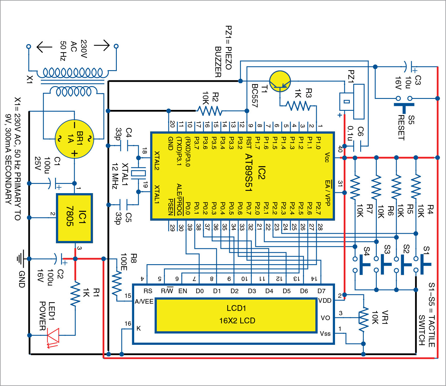 Fastest Finger First For Four Players Full Electronics Project Simple 300ma Dc To Ac Converter Circuit Diagram