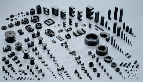 Different types of ferrite cores (Credit: www.yeng-tat.com)