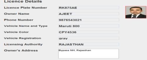 Registered Information (DATABASE)