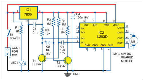 Circuit diagram of low-cost and versatile hand mixer