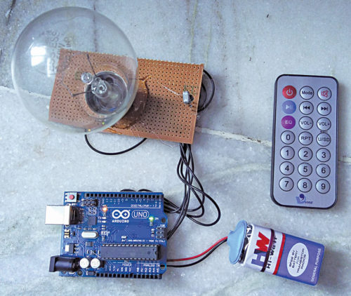 IR Remote-Controlled RGB Bulb | Electronics For You