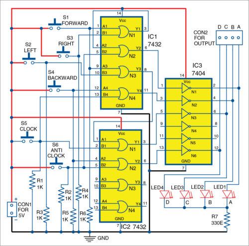 Circuit diagram of joystick for robot