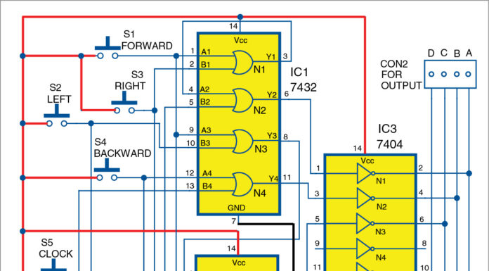 Joystick for Robot Circuit Diagram