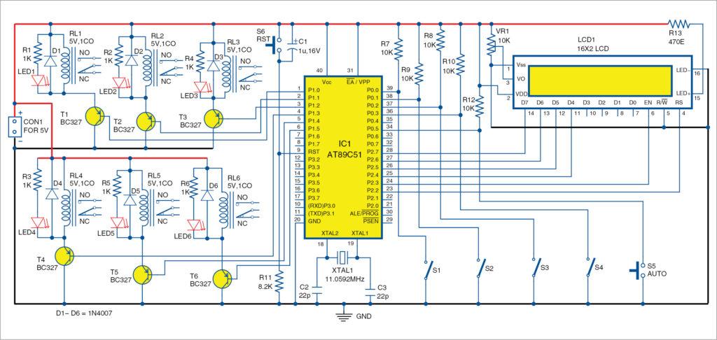 Circuit diagram of thin-film deposition technique using MCU