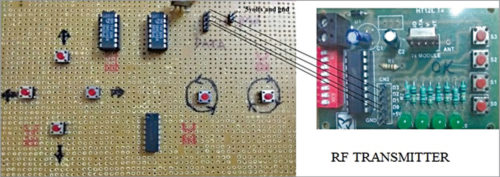 Connections with RF transmitter