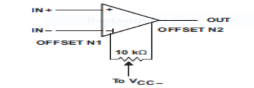 Input Offset Voltage Null Circuit