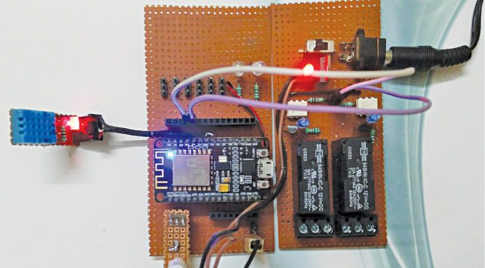 home automation system Using Wi-Fi Prototype