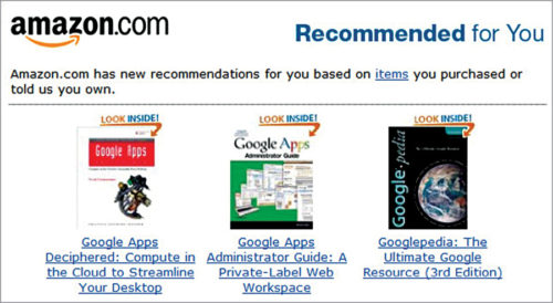 Amazon's recommendations for customers