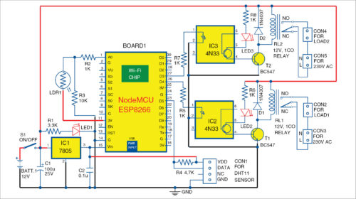 Home Automation System Using A Wi-Fi Module | Full ... on