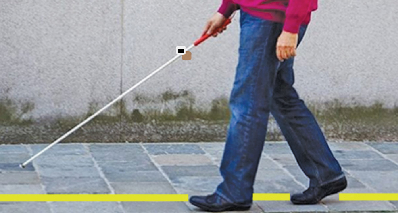 Magnetic Walking Stick for the Visually-Impaired