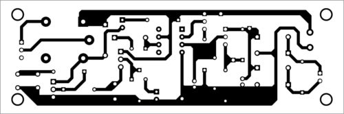 Actual-size PCB layout of adjustable AC circuit breaker