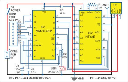 Circuit diagram of transmitter section