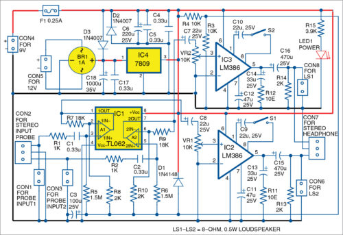 circuit audio filter project supply faq electronic schematic universal dual channel audio signal tracer and tester full diy project circuit audio filter project supply faq electronic schematic magazine