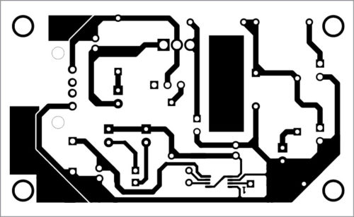 PCB layout of solar USB bicycle power box