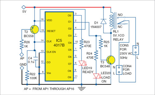 Circuit diagram of bistable section