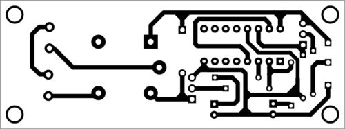 PCB layout of bistable circuit
