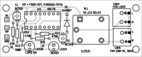 Components layout for the PCB shown in Fig. 8