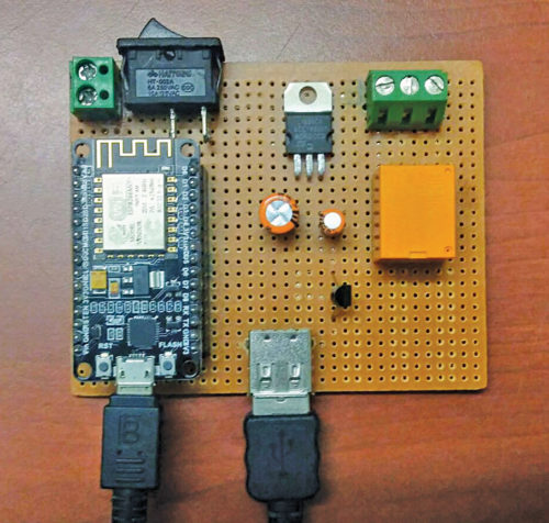 Author's prototype for The IoT-Based Timer Switch For Electric Water Heater