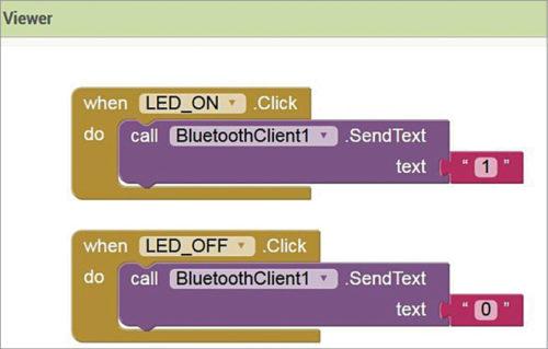 Blocks programming for LED