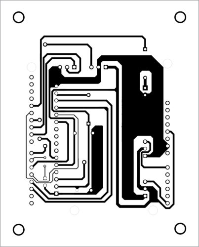 Actual-size PCB layout of multi-utility protection system