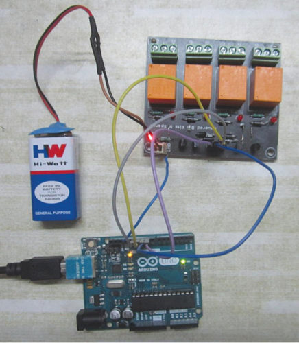 Prototype of relay board