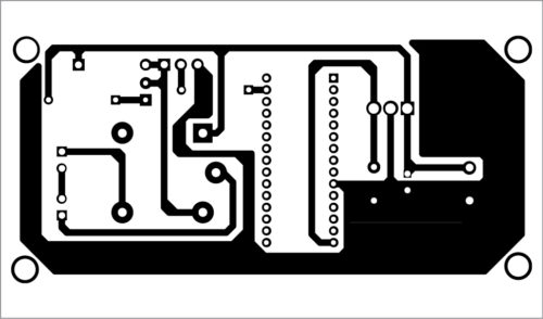 Actual-size PCB of the IoT-Based Timer Switch For Electric Water Heater