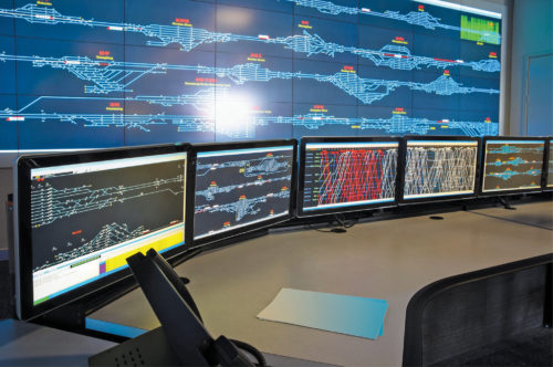 Control room of railways for train scheduling