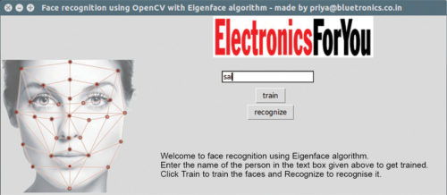 Fig. 1: Face recognition using OpenCV with welcome GUI