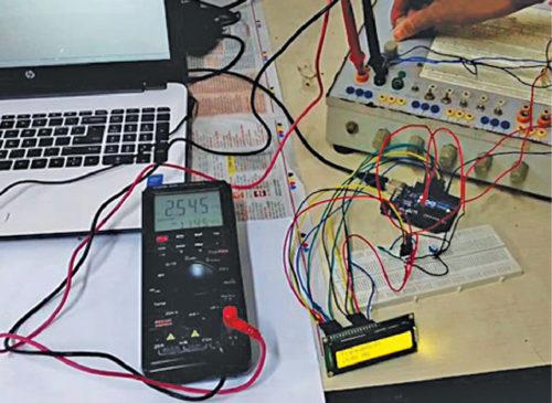 Authors' prototype of digital frequency meter