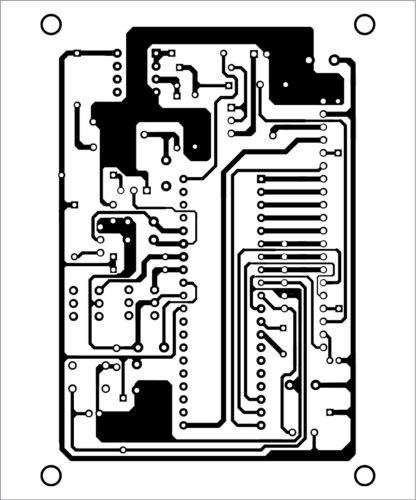 PCB layout of the Graphical LCD Scope