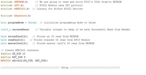 Rfid C Code Project