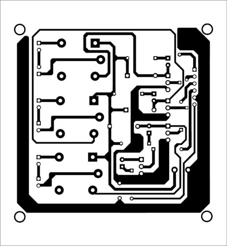 PCB layout of home automation system