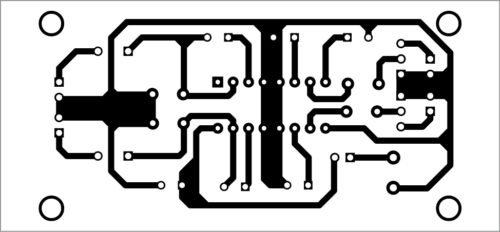 PCB layout of 5W stereo audio amplifier