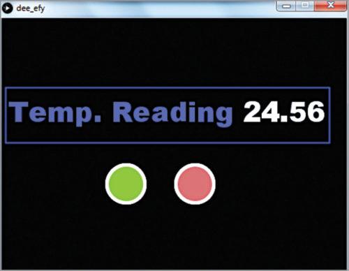 Temperature reading on GUI