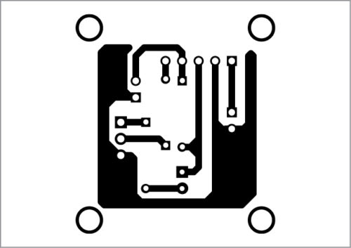 PCB layout of LED night marker