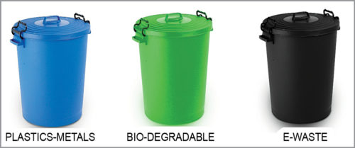 Colour-coded dustbins for use in India | Smart Recycling