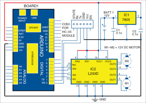 Circuit diagram of receiver circuit