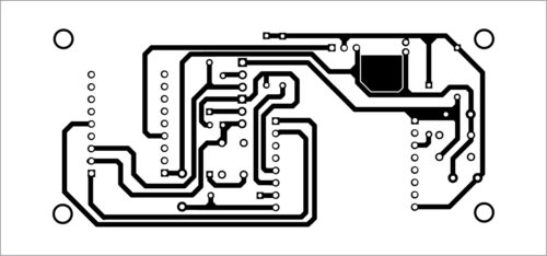PCB layout of the automatic programmer