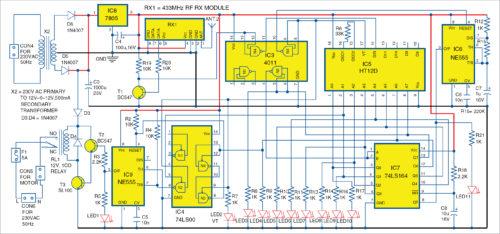 Circuit diagram of the receiver unit