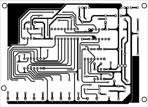 PCB layout of the receiver unit