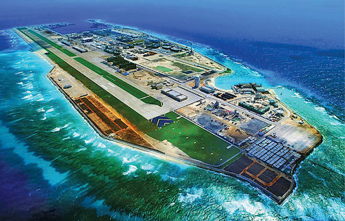 Artificial island in South China Sea