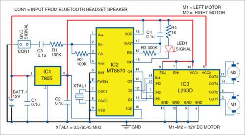 Circuit diagram of receiver system
