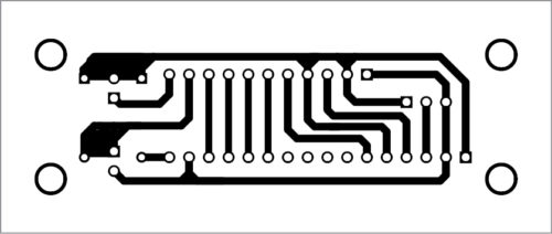 PCB layout of the light-level monitoring system