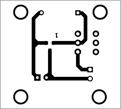 PCB layout of torchlight in normal mode
