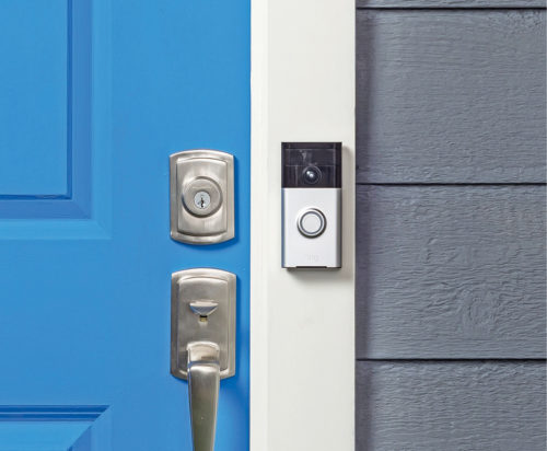 Fig. 2: Automated security entry systems on the gatepost of a house offer an additional set of eyes for a homeowner's protection