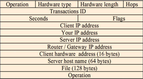 Fig. 3: A DHCP message sent using UDP