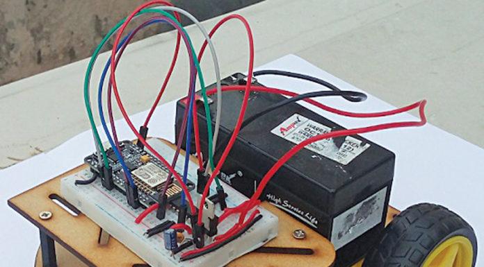 IoT robot prototype built at EFY Lab